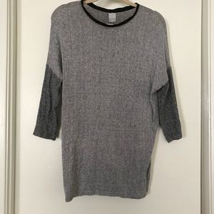 Zara Grey Charcoal Knitted Sweater Top